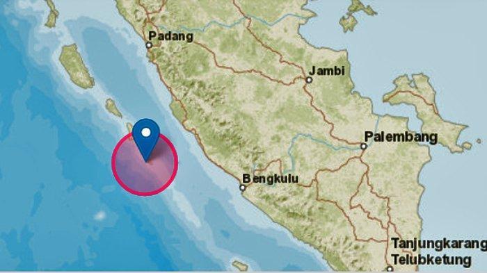 Gempa BumiHari Ini Senin 19 Oktober 2020, 2 Kali GuncangMentawai,Hanya Berjarak 16 Menit