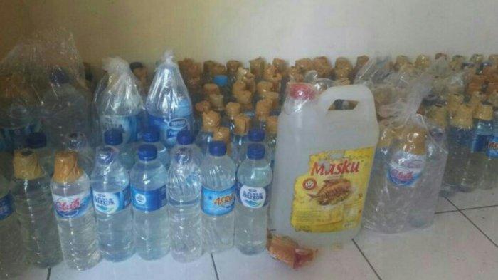 IRT Edarkan Puluhan Liter Miras di Bitung