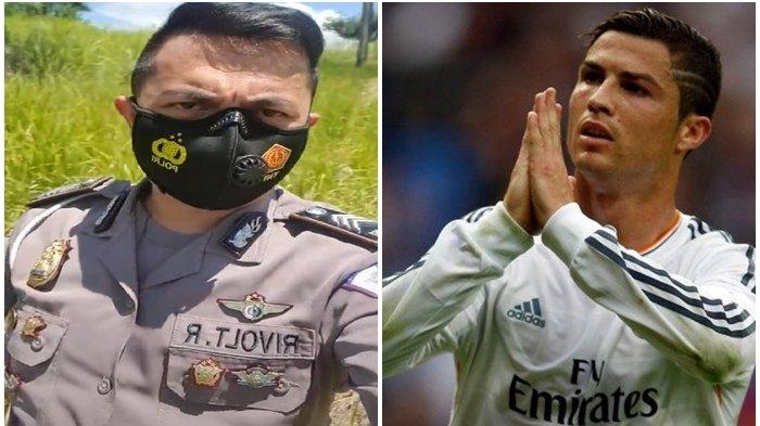 VIDEO Anggota Polres Minsel Brigadir Rivolt Rampi Suruh Cristiano Ronaldo Pakai Masker: Kira Rumahmu