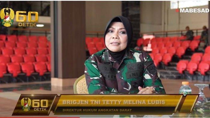 Brigjen TNI Tetty Melina Lubis. Jenderal wanita yang berperan penting Mengurus Posisi Baru Aprilio Manganang. Profil dan biodatanya ada di artikel ini