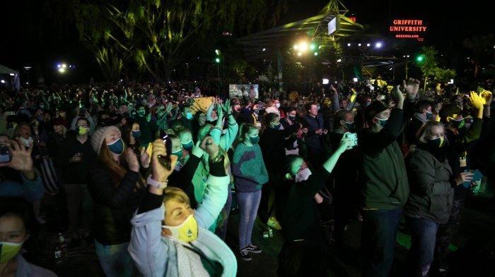 Warga Brisbane, Australia, menyambut gembira terpilihnya Brisbane sebagai tuan rumah Olimpiade 2032.
