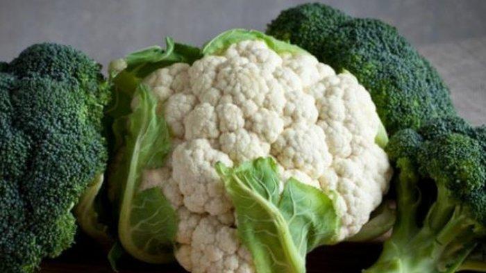 Ilustrasi brokoli dna kembang kol.