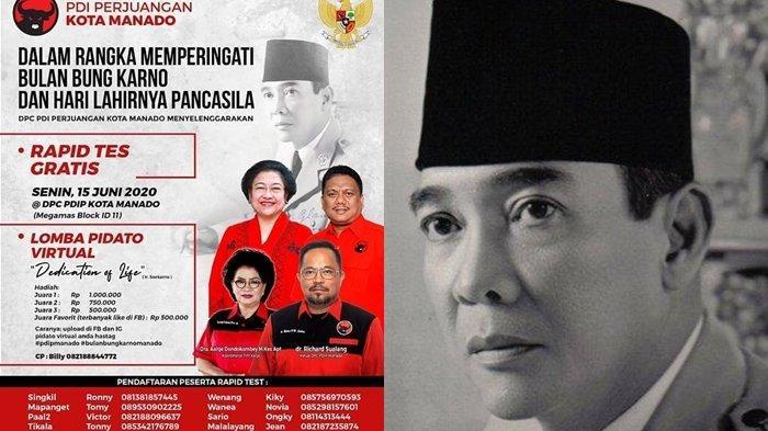 Peringatan Bulan Bung Karno, PDIP Manado Gelar Lomba Pidato Virtual