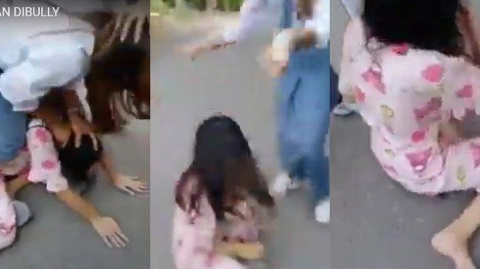 Viral Video Bully di Kotamobagu, Gadis Mungil Dianiaya 3 Orang, Pelaku Pakai Seragam SMA