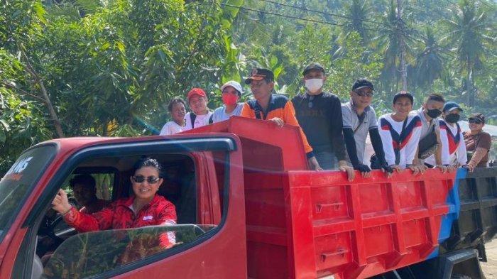 Bupati Sitaro Naik TrukPantau Proses Vaksinasi Covid-19 di Pulau Makalehi