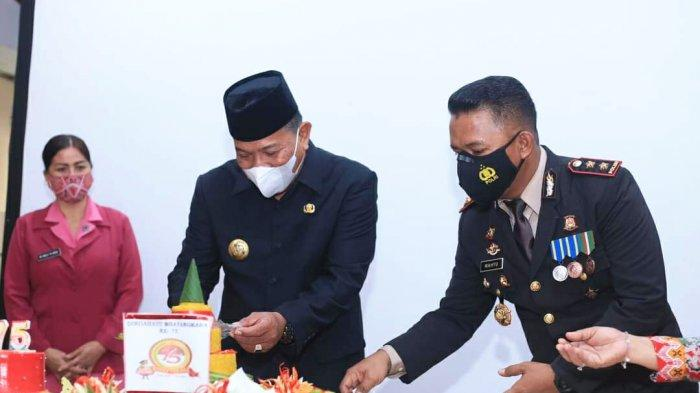 Bupati Bolmut Hadiri Upacara HUT ke-75 Bhayangkara, Sampaikan Pesan Penting