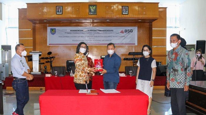 Bupati dan PDAM Bolmong Percayakan Pembayaran Tagihan Air Masyarakat ke Bank SulutGo