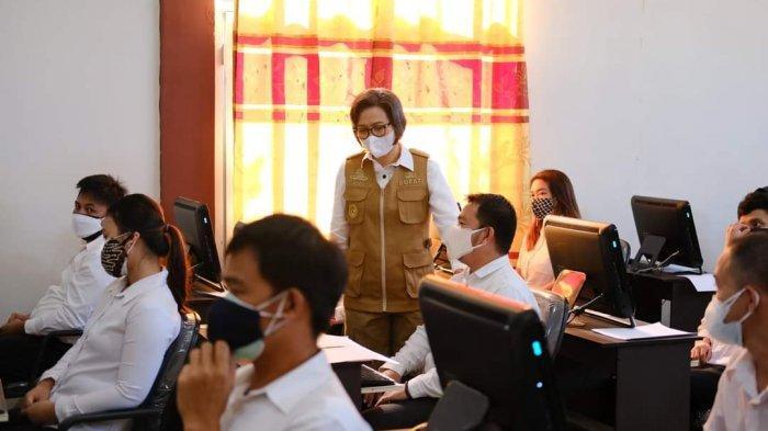 Buka SKD CPNS 2021, Bupati Bolmong Yasti Mokoagow Minta Peserta Tenang saat Jawab Soal