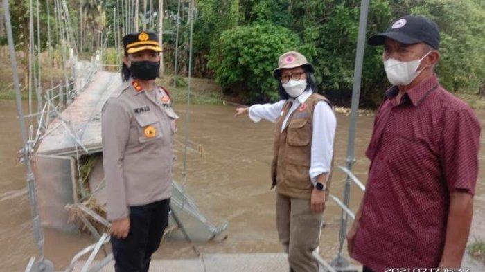 Diterjang Banjir, 1 Jembatan Gantung di Bolmong Putus