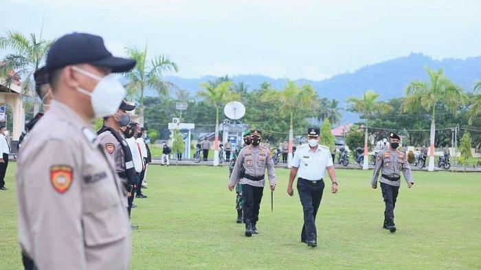 Bupati Bolmut Pimpin Apel Gelar Pasukan Operasi Ketupat Samrat, Fokus Protokol Kesehatan