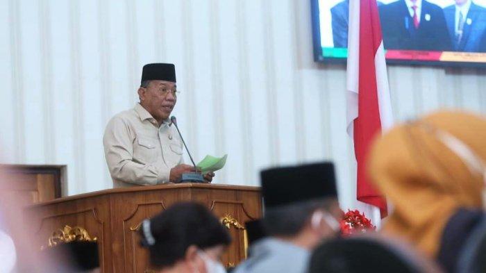 Hadiri Sidang Paripurna DPRD, Bupati Bolmut Sampaikan Pertanggungjawaban APBD Tahun 2020