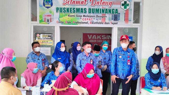 Giliran Lansia dan Aparat Desa di Bolsel Terima VaksinCovid-19