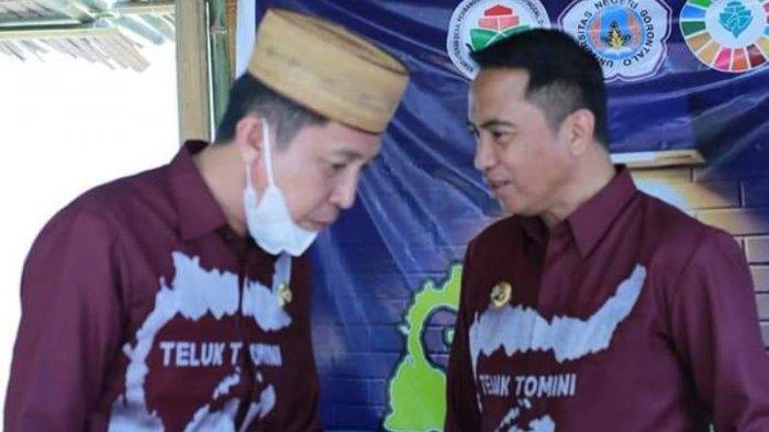 Bupati Boltim Sam Sachrul Mamonto, didampingi Kapolres Irham Halid hadiri kegiatan Regional Meeting Kawasan Teluk Tomini dan Maluku Utara serta Inovasi Expo tahun 2021 di TC Damhil Universitas Negeri Gorontalo (UNG), Sabtu (12/06/2021).