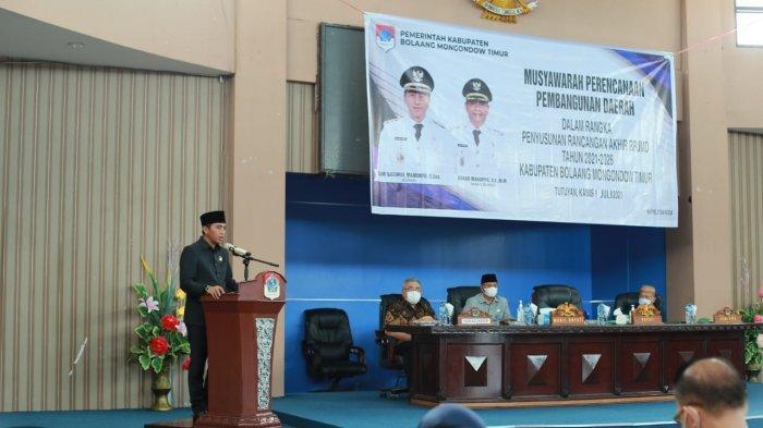 Bupati Boltim Sahcrul Mamonto Buka Musrenbang RPJMD Tahun 2021-2026