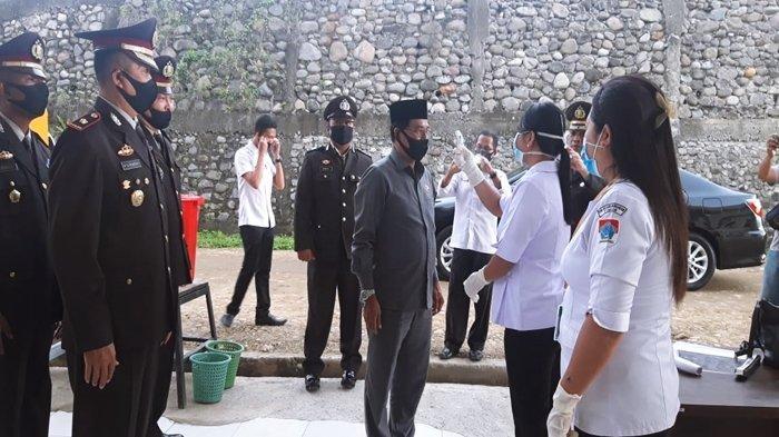HUT Bhayangkara ke-74, Polres Boltim Lakukan Upacara Virtual, Dihadiri Bupati dan Ketua DPRD