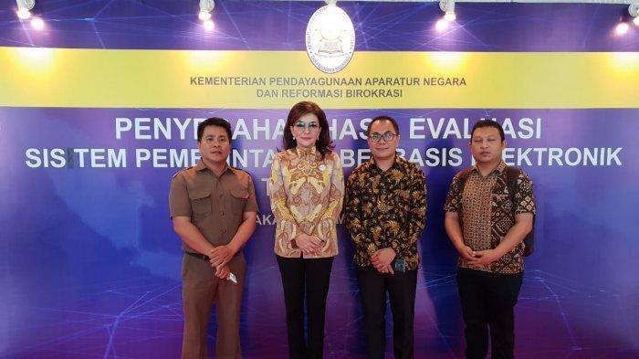 Dibuka Jusuf Kalla, Bupati Minsel Hadiri Evaluasi Sistem SPBE