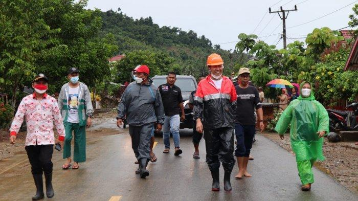 Bupati dan Wabup Bolsel Tinjau Langsung Lokasi Banjir