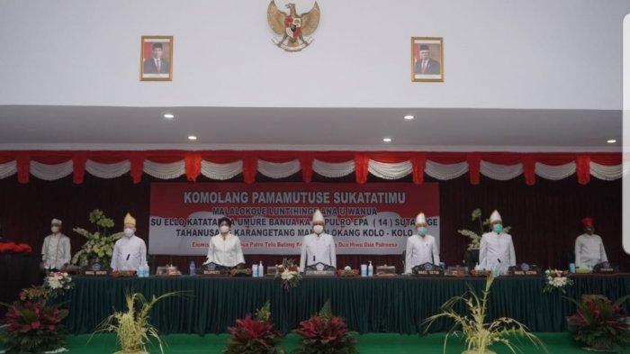 Nuansa Adat Budaya Warnai Rapat Paripurna DPRD Dalam Rangka HUT Sitaro ke-14 Tahun