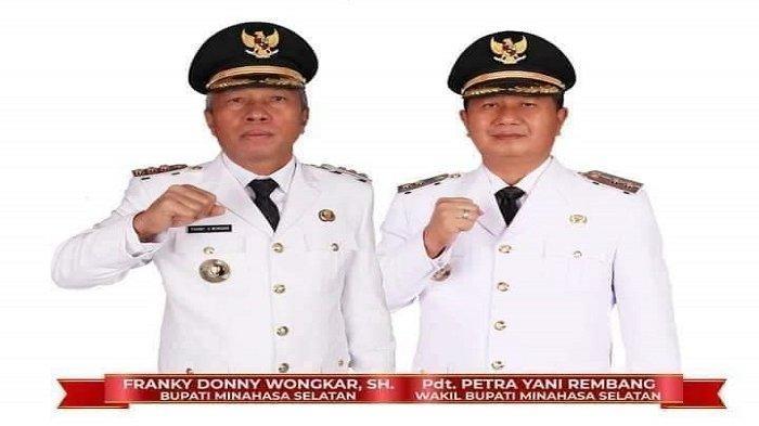 Bupati Franky Wongkar dan Wabup Petra Rembang