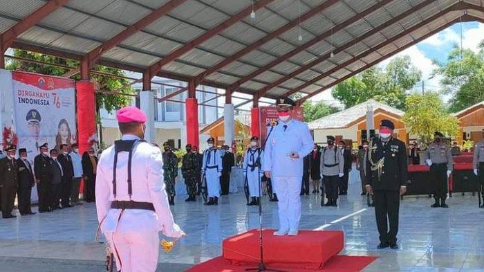 Peringati HUT RI Ke-76, Kabupaten Talaud Gelar Upacara Tabur Bunga di Laut, Elly Lasut Jadi Irup