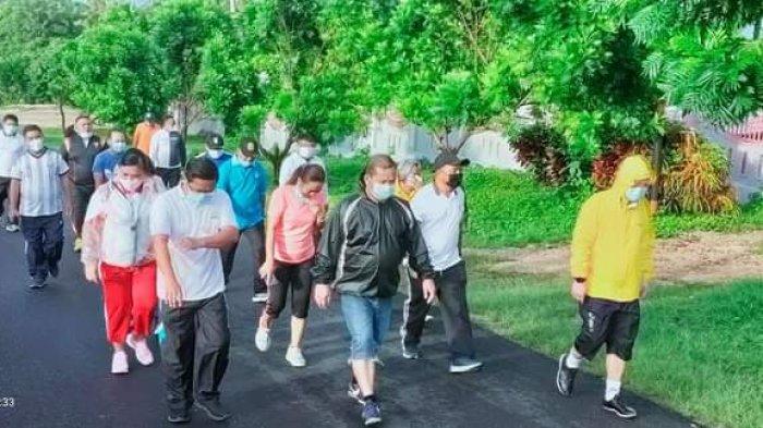Bupati Talaud Elly Lasut Ajak Pejabat Jaga Kesehatan dengan Berolahraga