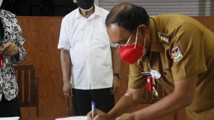 Bupati Minahasa Teken Adendum Perjanjian Kredit Pembangunan RSUD