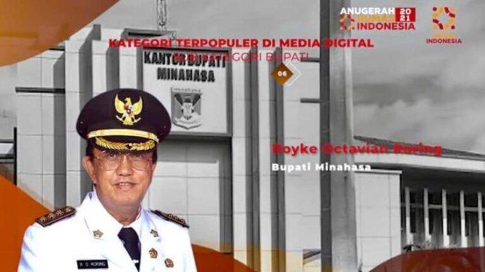 Bupati Minahasa Didaulat Jadi Kepala Daerah Terpopuler Dalam Anugerah Humas Indonesia Tahun 2021