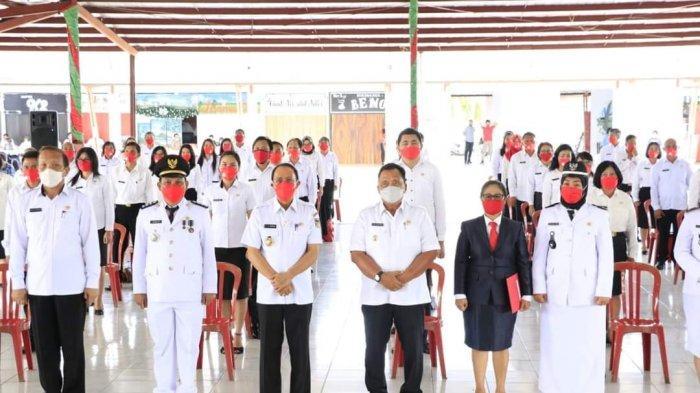 Bupati ROR Lantik 59 Pejabat Eselon III Sekaligus Mengapresiasi Pengabdian Para Pensiunan Pegawai
