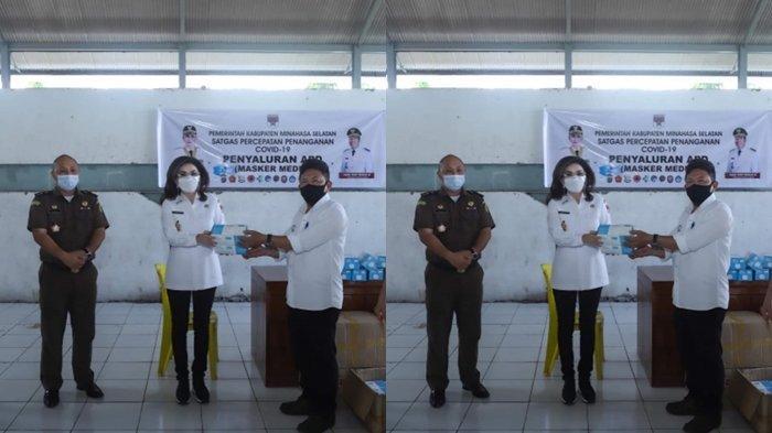 Bupati Minsel Tetty Paruntu Sebut Setiap Rumah Dapat Satu Dus Masker