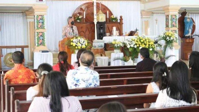 Franky Wongkar Paskah Bersama Umat Katolik Amurang Minsel, Ingatkan Umat Jangan Mudah Terprovokasi