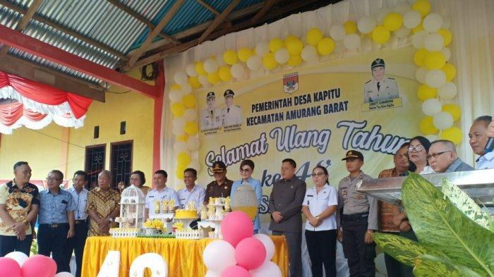 Bupati Tetty Paruntu Hadiri HUT ke-48 Desa Kapitu, Ini Harapannya