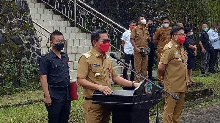 Apel Perdana Bersama ASN Minut, Joune Ganda dan Kevin Tampil Cool, Kepala SKPD Tegang