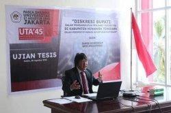 Bedah Persoalan di Kabupaten Mitra, Bupati Tuntaskan Ujian Tesis di UTA'45 Jakarta
