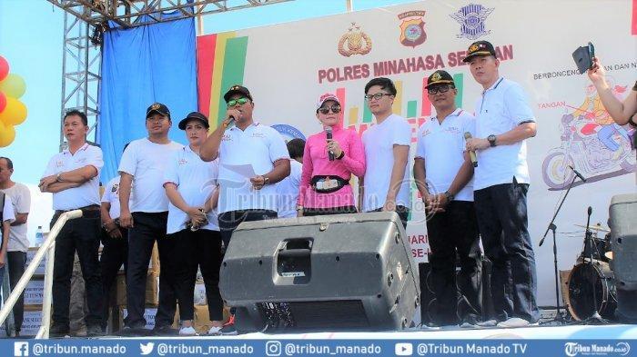 Bupati Paruntu Apresiasi Millennial Road Safety Festival Polres Minsel