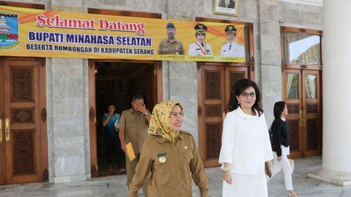 Bupati Paruntu Bertemu Bupati Serang Banten untuk Mempelajari BUMD