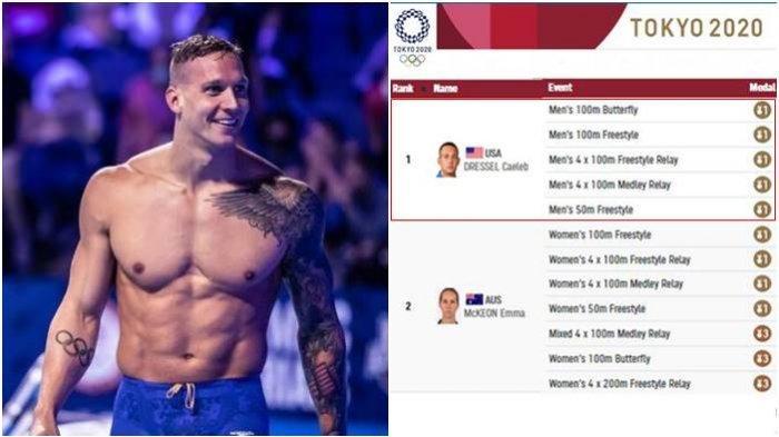 Sosok Caeleb Dressel Atlet Peraih 5 Medali Emas di Olimpiade Tokyo, Disebut The Next Michael Phelps