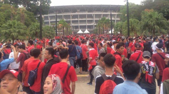 Stadion Jadi Merah Total 2 Jam Sebelum Kick-off Piala AFC U-19 2018, Timnas U-19 Indonesia Vs Jepang