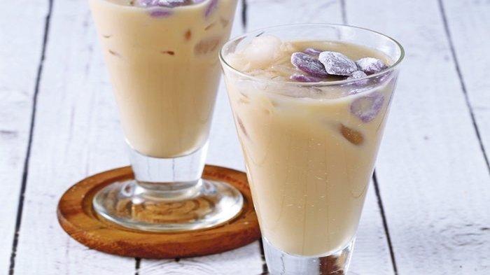 Es Teh Susu Bubble Ubi Ungu, Cocok untuk Buka Puasa, Minuman Dingin Pelepas Dahaga