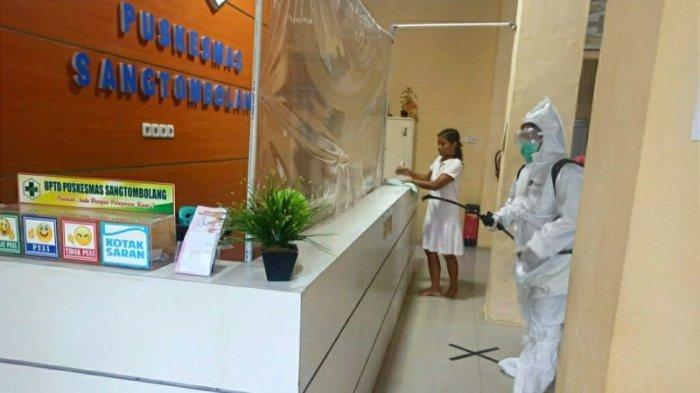 Gandeng Pemerintah Desa dan Masyarakat, Dinkes Bolmut Lakukan Penyemprotan Disinfektan
