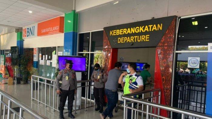 Cegah Penyebaran Covid-19, Polsek Bandara Terus Pantau Suasana Kedatangan