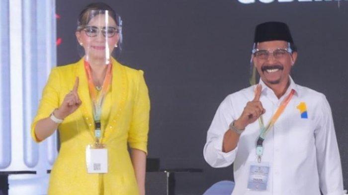 Christiany Eugenia Paruntu dan Sehan Landjar (CEP Sehan) pada Debat Publik