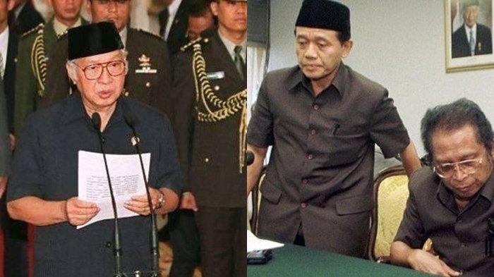 Cerita Harmoko desat <a href='https://manado.tribunnews.com/tag/soeharto' title='Soeharto'>Soeharto</a> mundur dari <a href='https://manado.tribunnews.com/tag/jabatan' title='jabatan'>jabatan</a> Presiden 1998. Pak Harto akhirnya <a href='https://manado.tribunnews.com/tag/mengundurkan-diri' title='mengundurkandiri'>mengundurkandiri</a> pada <a href='https://manado.tribunnews.com/tag/21-mei-1998' title='21Mei1998'>21Mei1998</a>.