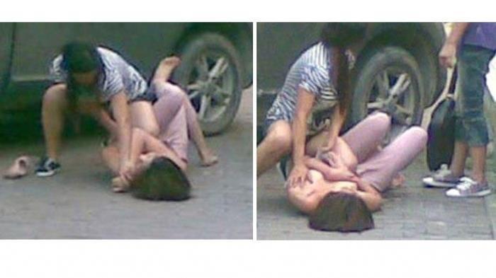 HEBOH! Dua Gadis Berantem, Gak Sadar Bagian Tertutupnya Udah Terpampang
