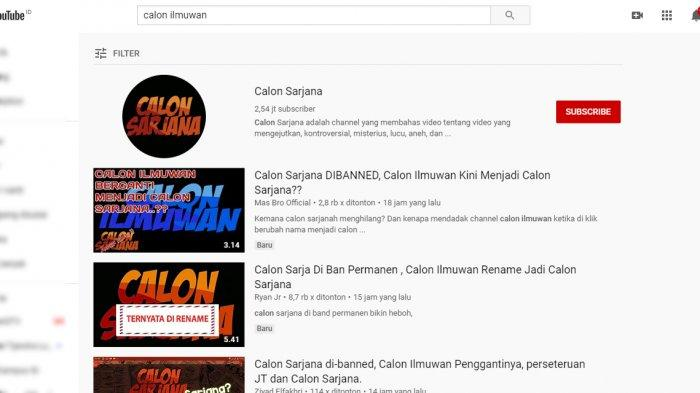 Channel Youtube Calon Sarjana Tiba-tiba Hilang? Tahun Lalu Heboh Plagiarisme, Calon Ilmuwan Direname