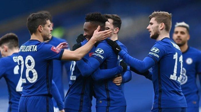 Pemain Chelsea saat merayakan kemenangan