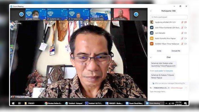 Pesan CEO Tribun Network Dahlan Dahi di Launching Tribun-Papua.com, Ingin Papua Semakin Dikenal