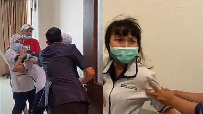 Foto: Christina Ramauli S, seorang perawat RS Siloam Sriwijaya Palembang dianiaya keluarga pasien ruangan IPD 6 di kamar 6026 RS Siloam Sriwijaya Palembang, Kelurahan Lorok Pakjo Kecamatan IB I Palembang.