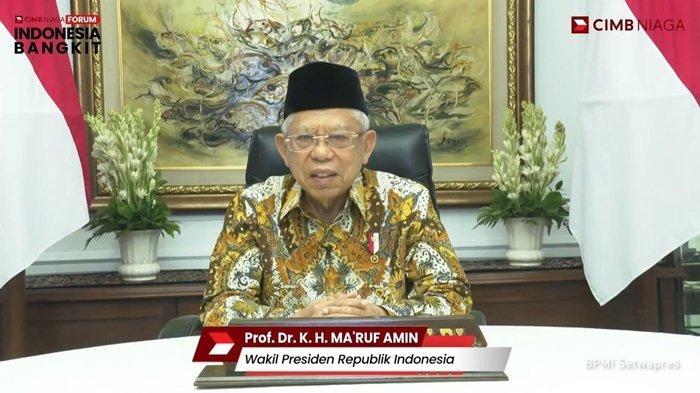 CIMB Niaga menggelar Forum Indonesia Bangkit seri pertama bertema Strategi Sektor Kesehatan untuk Percepatan Pemulihan Ekonomi Nasional, Selasa (06/04/2021). Wapres RI, KH Ma'ruf Amin, Menkes, Budi Gunadi Sadikin menjadi narasumber di forum ini.