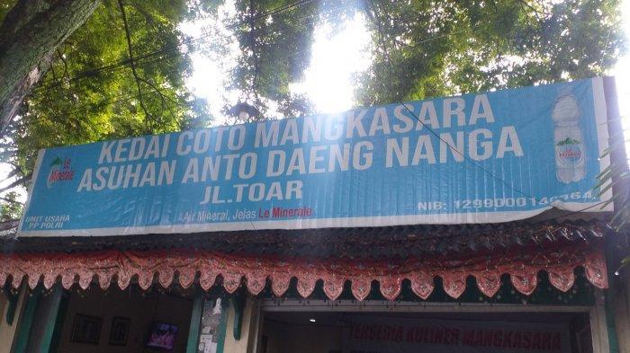 Coto Makassar Daeng di Jalan Toar, Mahakeret Barat, Wenang, Kota Manado, Sulut.