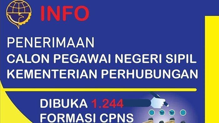 Ayo Daftar Kementerian Perhubungan (Kemenhub) Buka 1244 Formasi CPNS 2019